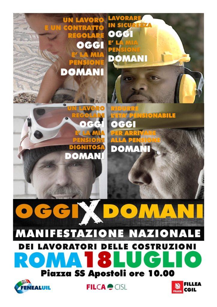 """OggiXDomani"" Manifestazione edili"