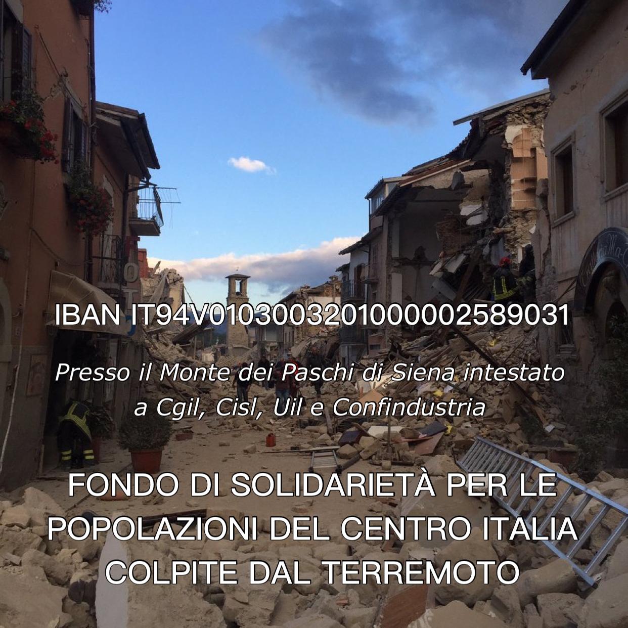 Fondo Solidarietà Terremotati